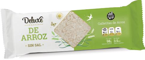Galletitas de arroz sin Sal - Deluxe Bla Bla